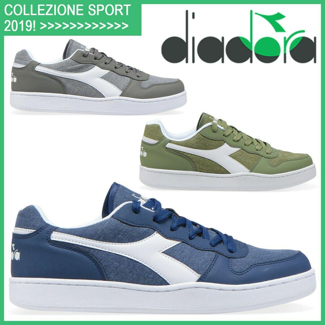 Scarpe Uomo DIADORA Sneakers in Pelle da Ginnastica Sportive