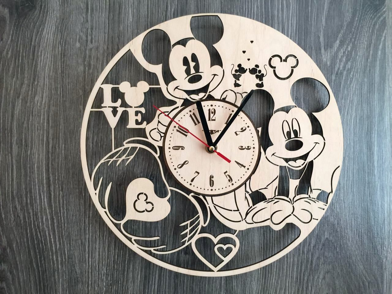 Mickey Mouse Wall Wood Clock 31 99 Size 12 In 30 Cm Really