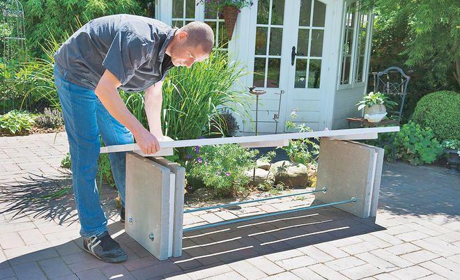Gartenbank Aus Beton Gartensitzplatz Garten Beton Gartenbank