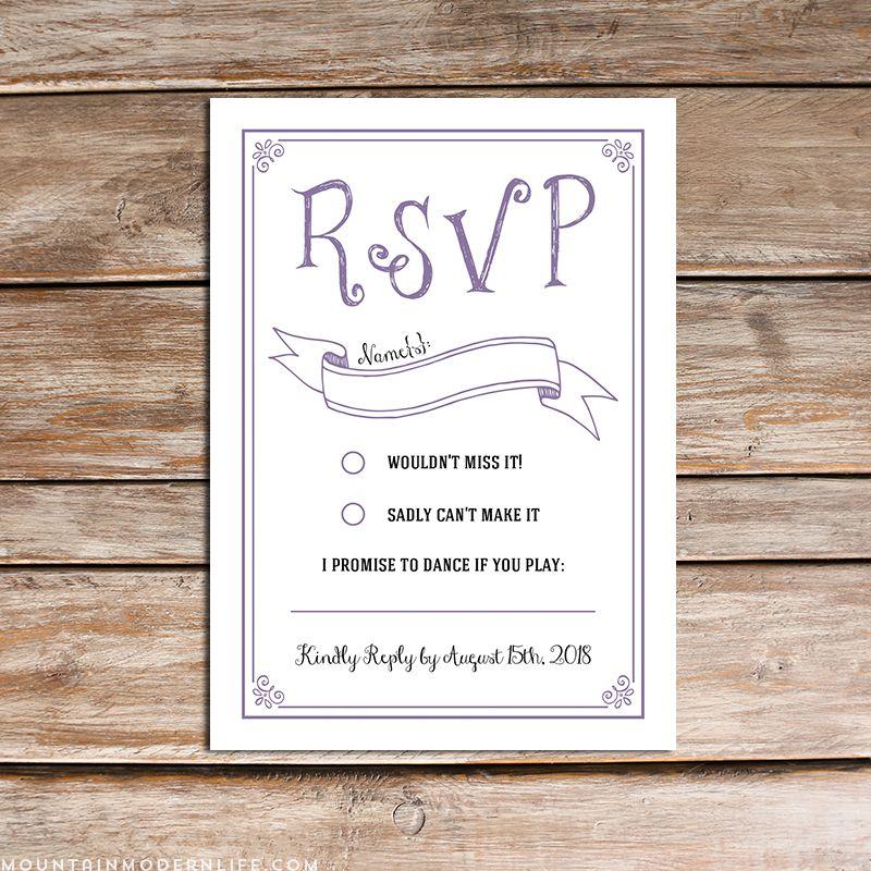 Home rsvp wedding cards free printable wedding
