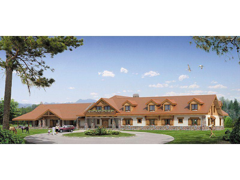 Projekt Budynku Komercyjnego Cykada 3 Wycena Budowy Projekty Domow Kreodom Pl House Styles House Mansions