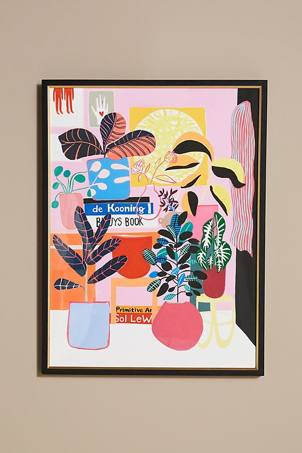 DeKooning, Bueys and Plants Wall Art by Artfully Walls in Assorted, Decor at Anthropologie