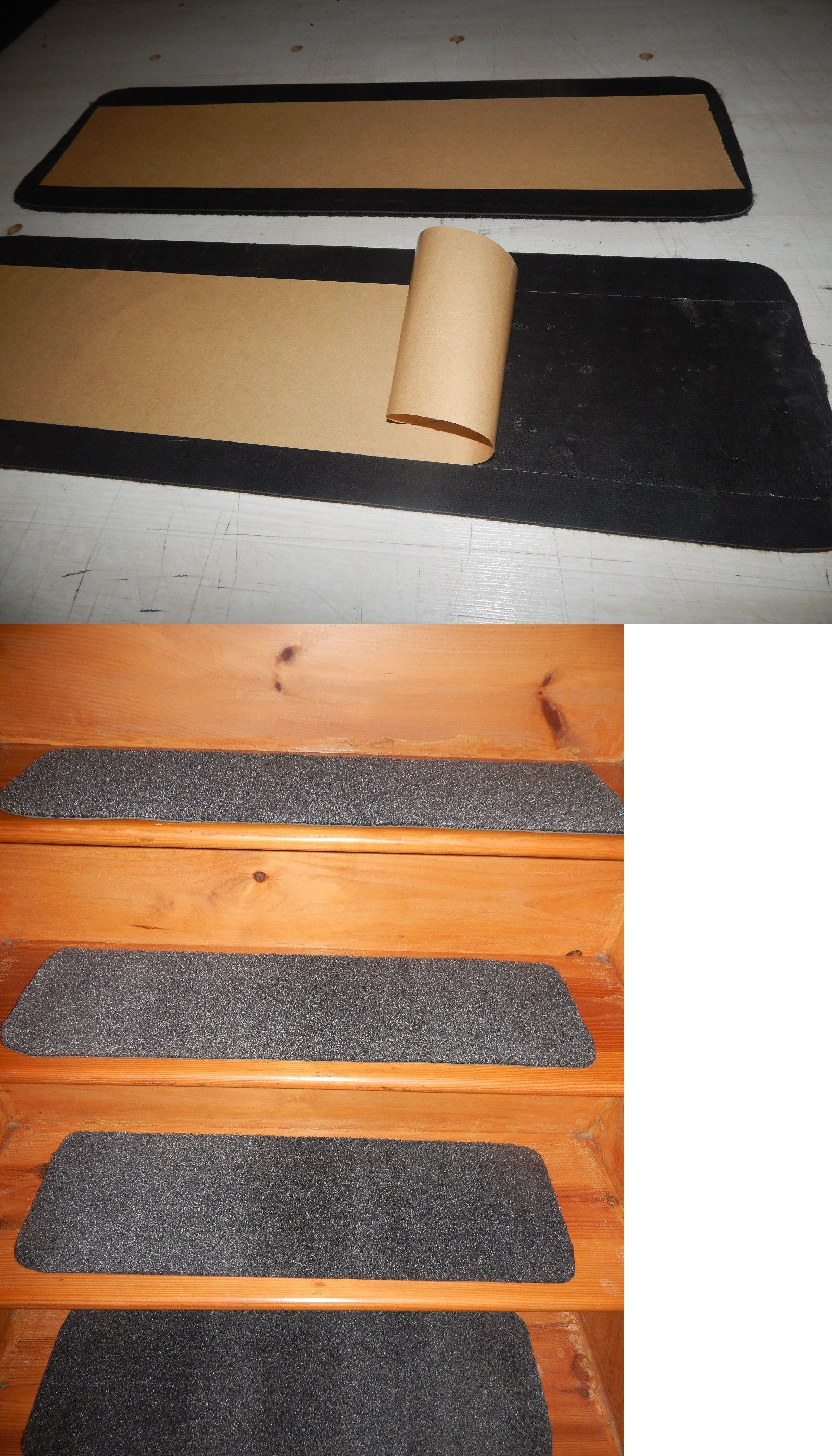 9 X 30 100 Flexible Rubber Outdoor Indoor Stair Treads Peel | Stick On Stair Treads | Step | Unique | Maple Stair | Integrated Post | Solid Weathered