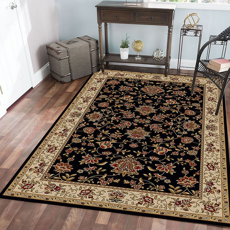 Como Terry Traditional Oriental Area Rug Floral Area Rugs Area