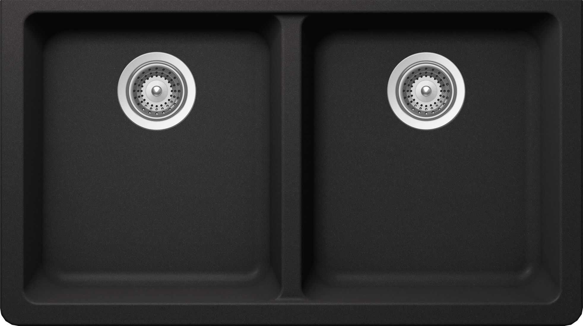 Alive 33 X 18 44 Cristalite 50 50 Undermount Double Bowl Kitchen