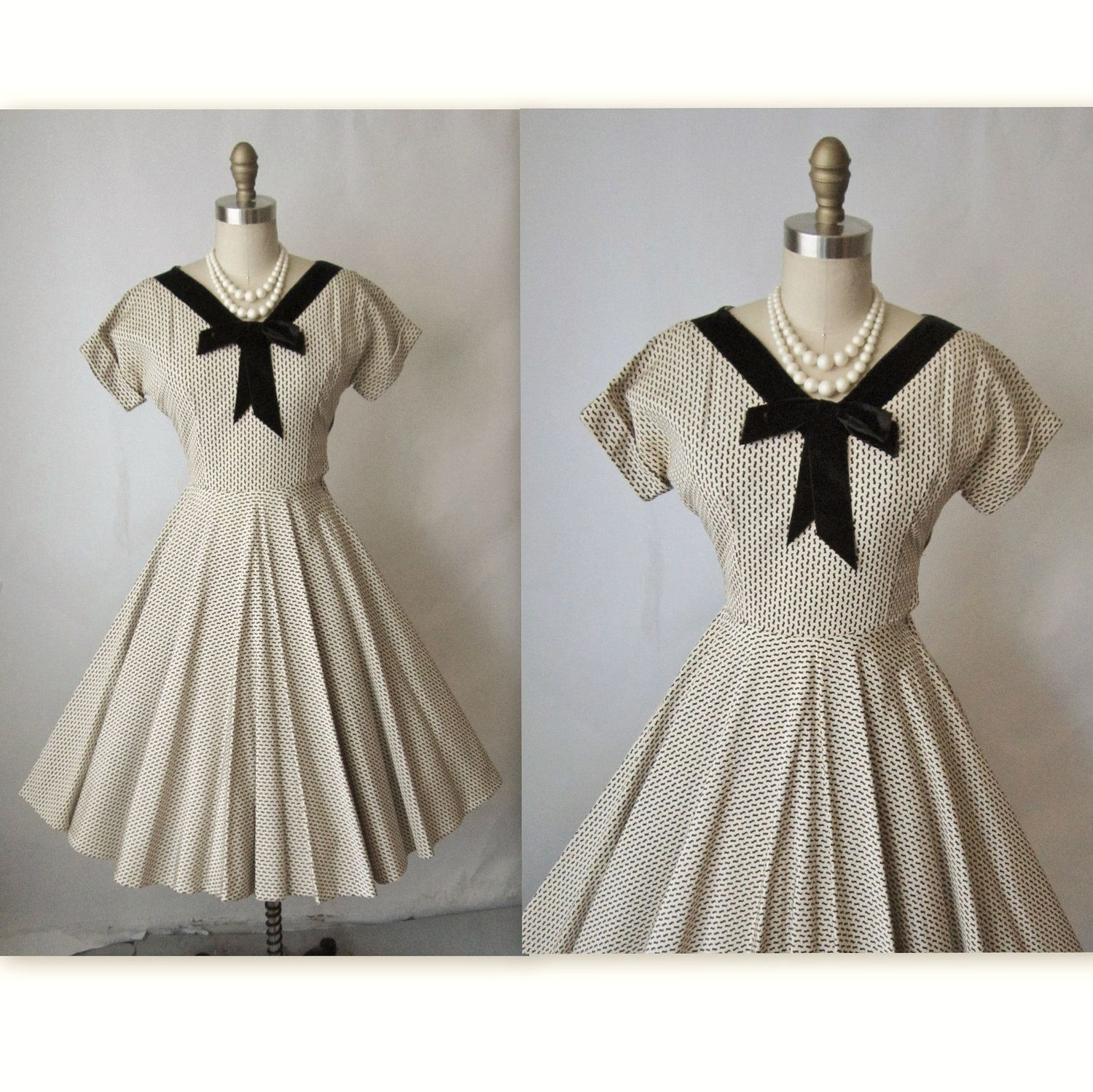 Reserved for Sarah 50\'s Cocktail Dress // Vintage 1950\'s New Look ...