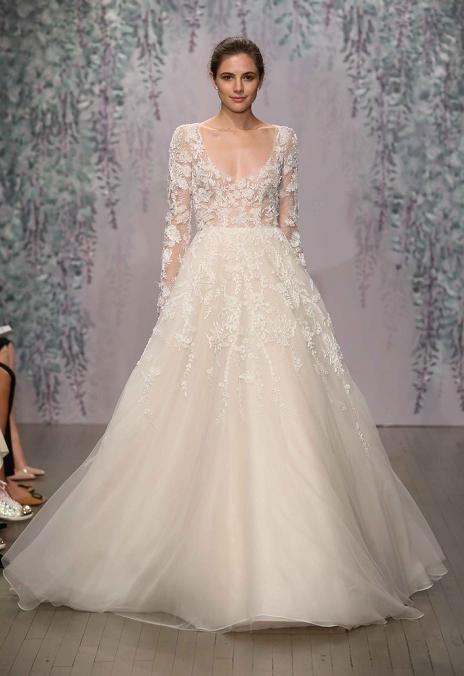 2016 neue Art und Weise A Linie Illusion Bodice Wedding Dresses ...