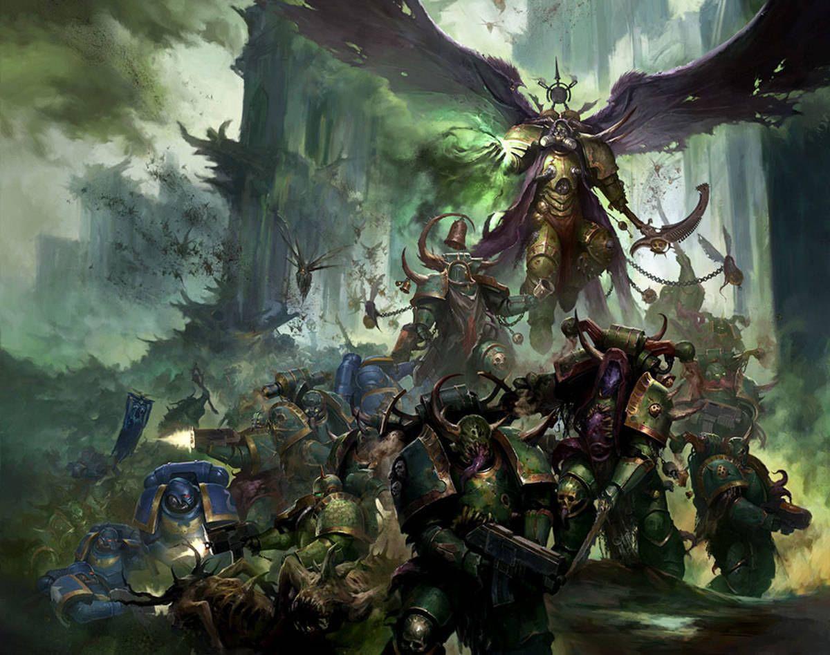 warhammer 40k artwork artworks death guard mortarion image picture