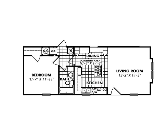 Beautiful One Bedroom One Bath Mobile Home #10: 1 Bedroom Mobile Home Floor Plans Single Wide Mobile Home Floor Plans 1  Bedroom Floor Plan Layout On Popular Ideas