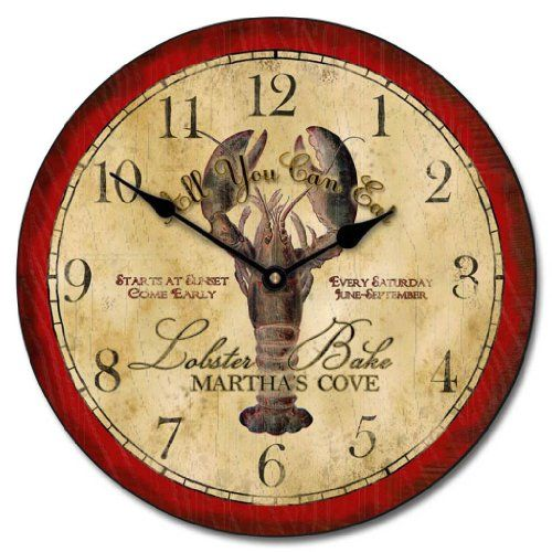 Vintage Lobster Wall Clock 10 60 Whisper Quiet Nonticking ** Continue To  The Product At The Image Link.