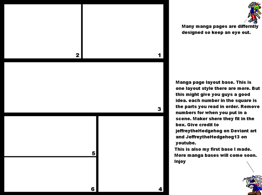 Manga Page Layout Base By MoonwolfyouthotakuDeviantartCom On