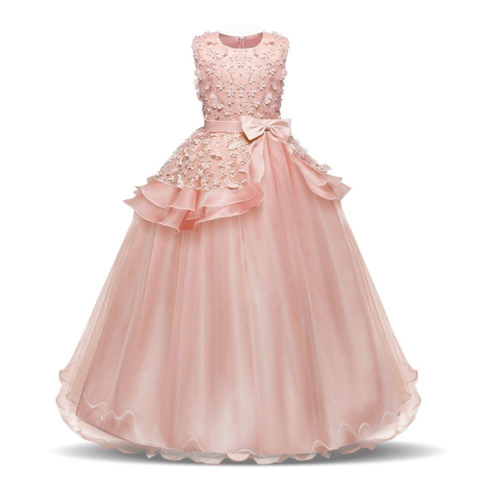 Long Sleeveless Party Dress For Girls Itskidbusiness Pageant Dresses Girls Lace Dress Kids Gown [ 1000 x 1000 Pixel ]