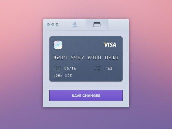 Edit Credit Card | http://dribbble.com/shots/994446-Edit-Credit-Card