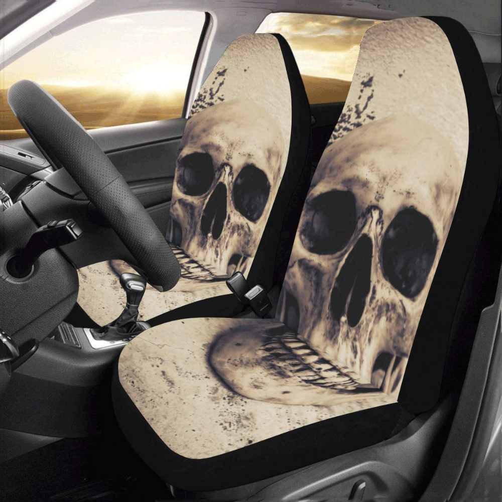 2 BLACK FRONT VEST CAR SEAT COVERS PROTECTORS FOR VOLVO V40