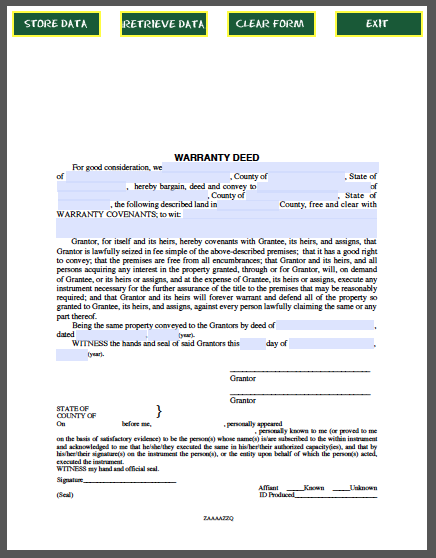 Warranty Deed  Forms    Farm House Real Estate And Pdf