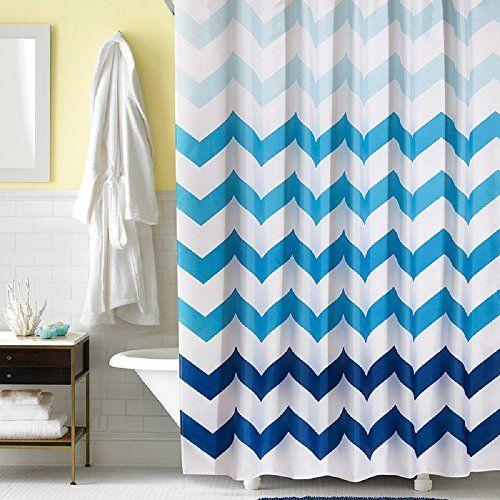 Ufaitheart Modern Design Fabric Shower Curtain Chevron 36 X 72