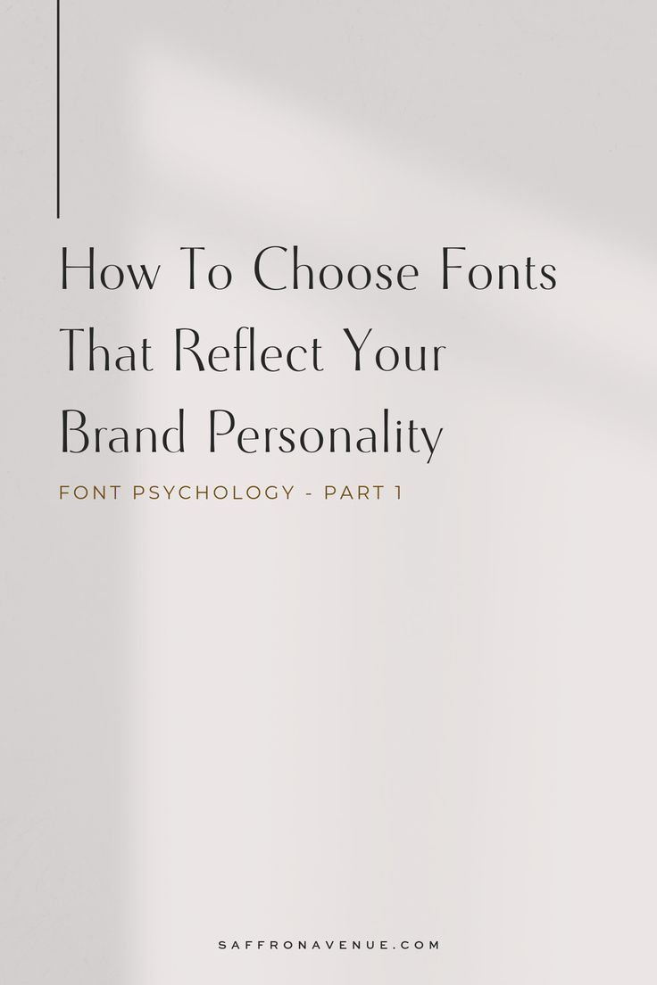 The typography you use on your website and in your brand has an emotional impact with your readers.  It's important to make sure they are accurately representing you.  Here is how to use font psychology when choosing your brand fonts. // Saffron Avenue -- #fontpsychology #brandfonts #typography #brandstyle #saffronavenue