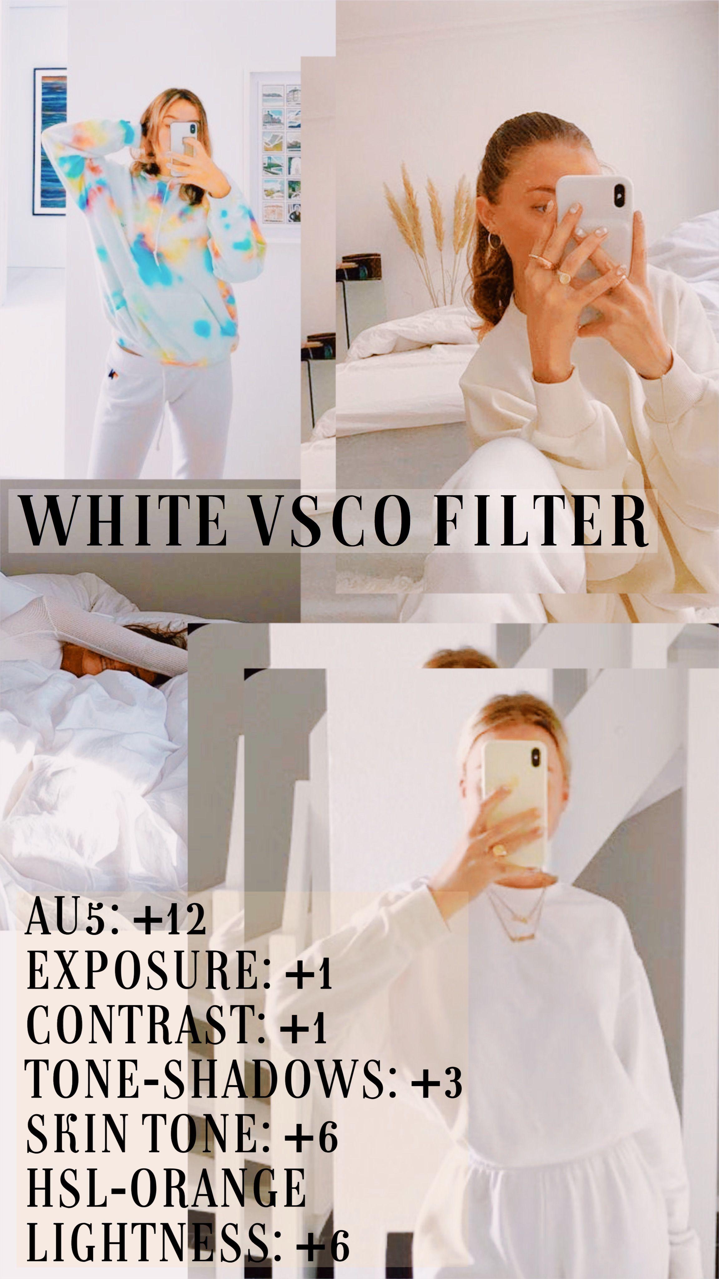 White Vsco Filter Made By Chloegriesh In 2020 Vsco Filter Vsco Filter Instagram Best Vsco Filters