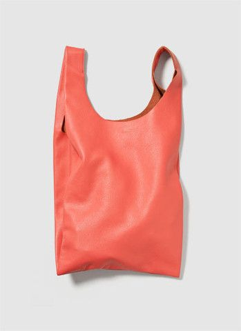 Baggu Small Leather Bag - Grapefruit