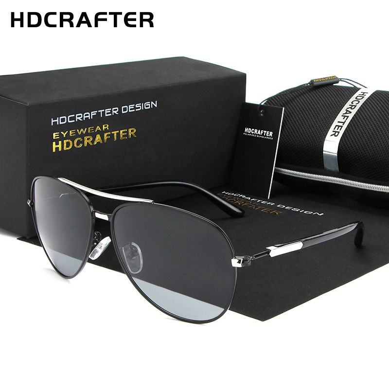 HDCRAFTER 2017 Aluminum Alloy Frame Sunglasses High quality New Oculos de sol masculino Polarized Eyewear Accessories For Men