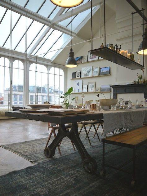 Der Tisch ist interessant! | Vausroom | Pinterest | Lofts, Interiors ...