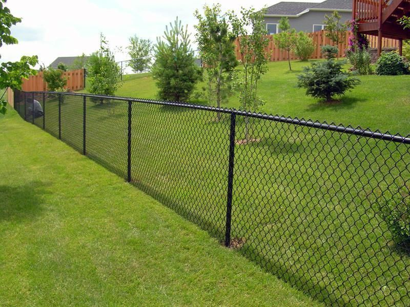 Residential Chain Link Fences Contractors In Toronto Black Chain