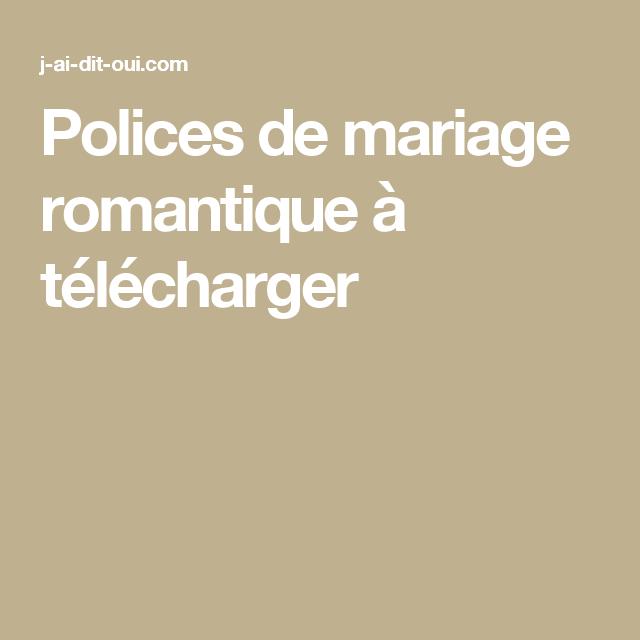 Polices de mariage romantique à télécharger