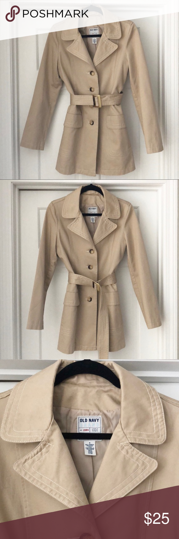 f5a4572d481 Old Navy Women s Tan Canvas Trench Coat Old Navy Women s Tan Canvas Trench  Coat Size M Button down. Two front flap pockets. Please note there is a  tiny mark ...