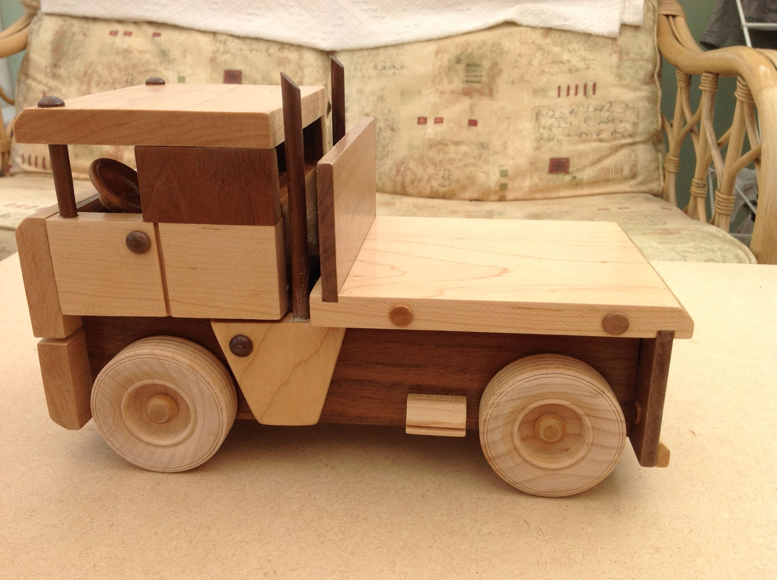 my handmade wooden truck maded french, swindon england