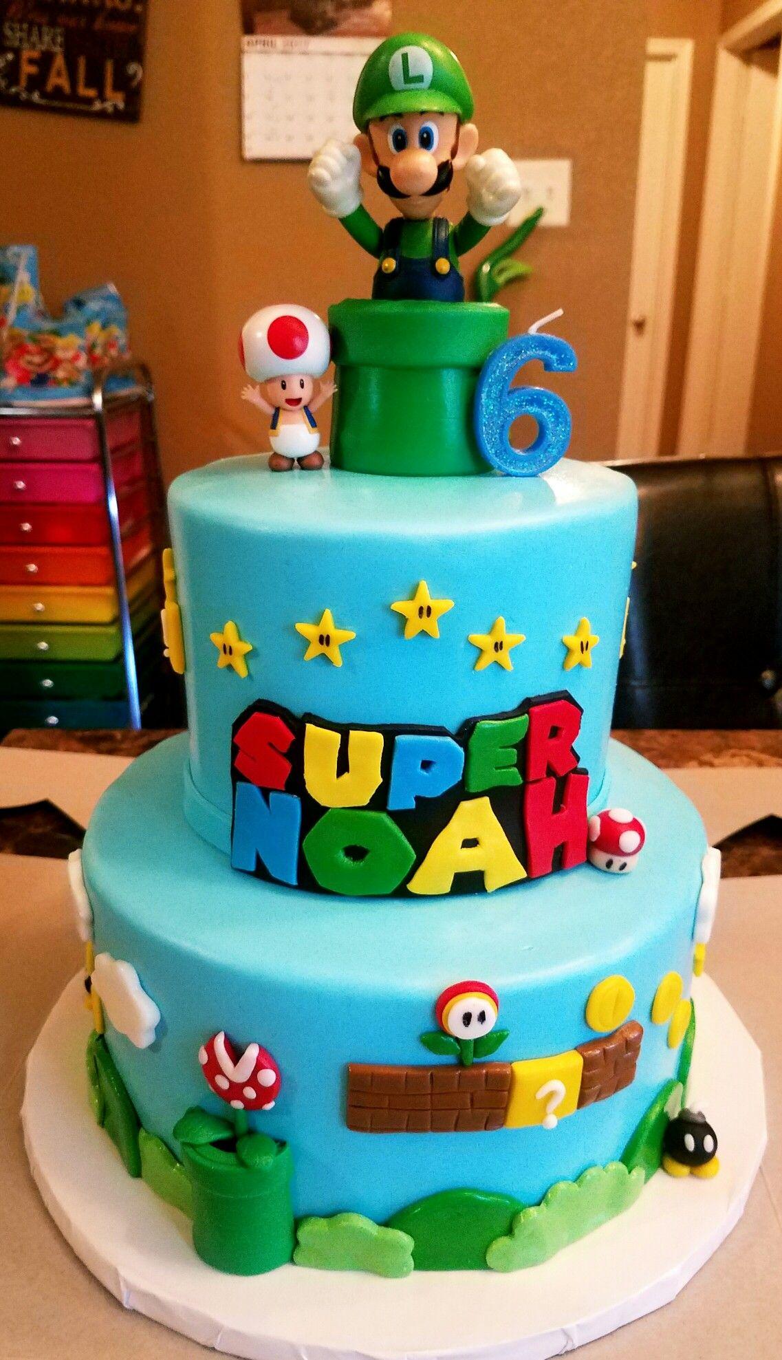 Awesome Super Mario Birthday Cake Mario Birthday Cake Super Mario Cake Funny Birthday Cards Online Kookostrdamsfinfo
