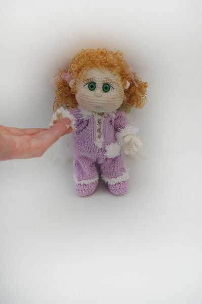 Häkelanleitungen Häkelanleitung Puppe Engel Ein Designerstück