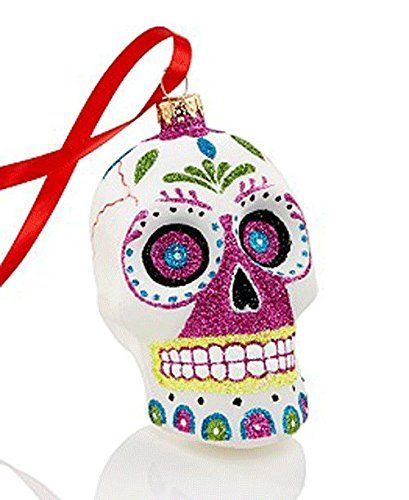 Holiday Lane Day of the Dead Glass Sugar Skull Ornament Holiday Lane http://www.amazon.com/dp/B0161M5X52/ref=cm_sw_r_pi_dp_jMNgwb09XR73K