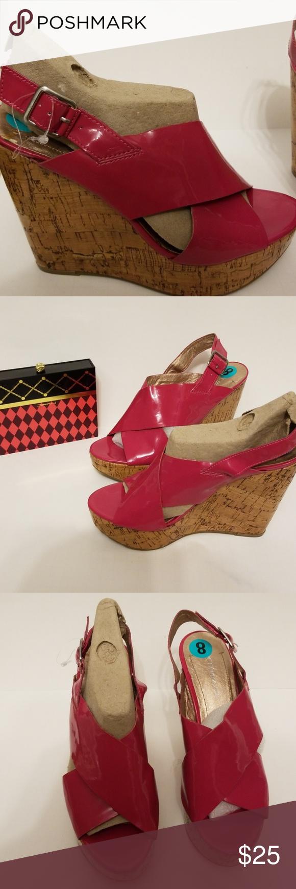 6ecf321c23c BCBG shoes BCBG Generation sandals. Hot pink open toe wedge sandals. New