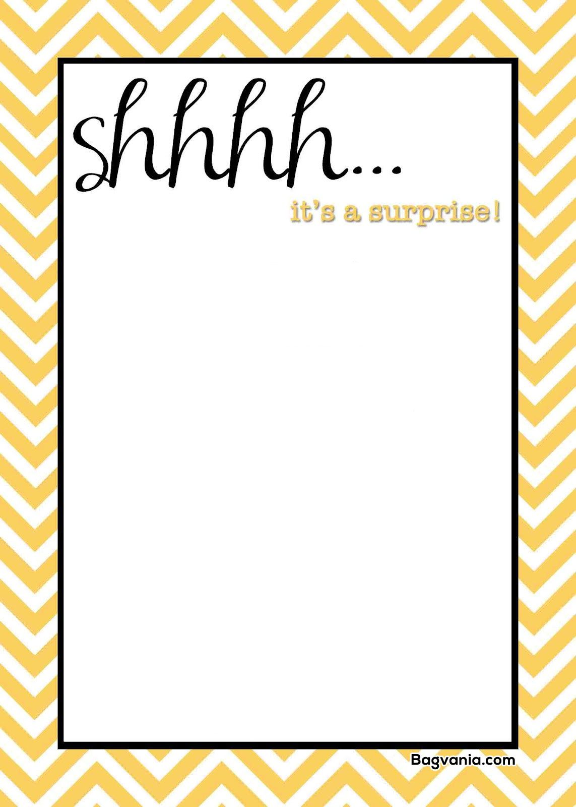 Free Printable Surprise Birthday Invitations Bagvania FREE Invitation Template