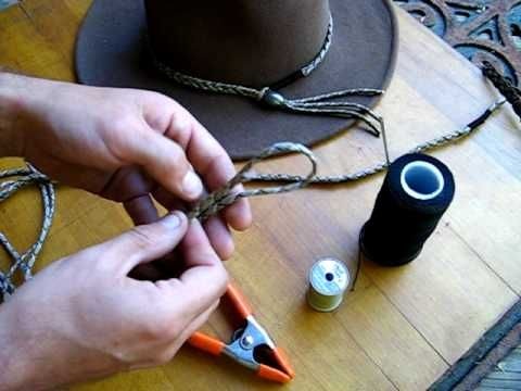 How To Make A Simple Paracord Hat Band Youtube Hat Band Diy Leather Hat Beaded Hat Bands