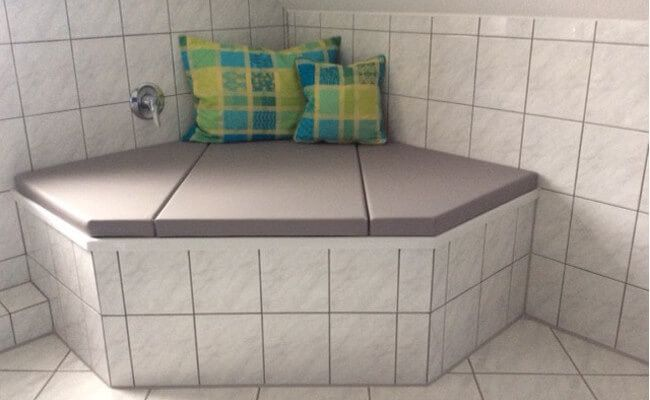 Badewannenauflage Sechseckwanne beim Kunden (mit Bildern