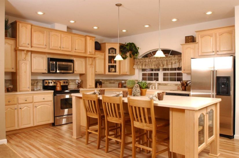Cabinets kitchen paint colors with light wood smart color ...