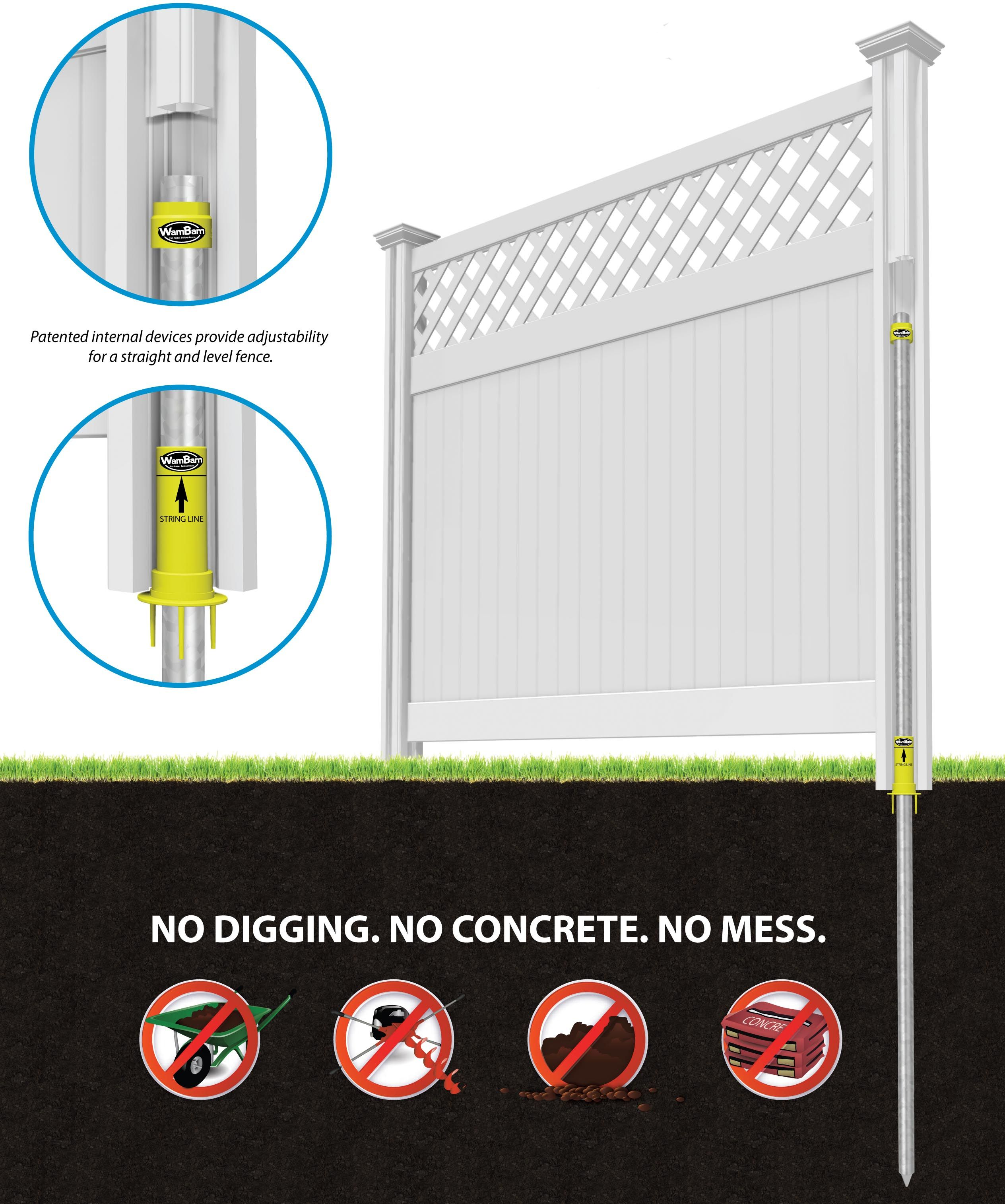 Do It Yourself Fence Saves Time And Money Vinyl And