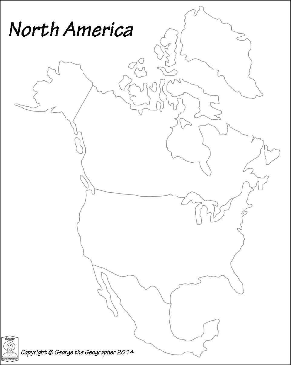 Image result for printable north america continent