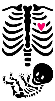 Krafty Nook Maternity Skeleton Template Manualidades Bordados En Tela Proyectos Cricut