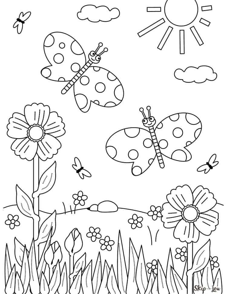 Flower Coloring Pages In 2021 Butterfly Coloring Page Flower Coloring Pages Insect Coloring Pages