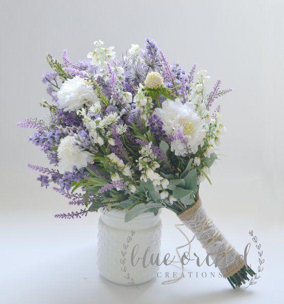 Wildflower Brautstrauß - rustikaler Blumenstrauß, Lavendel Wildflower Bouquet, Shabby Chic Bouquet, Brautstrauß, Boho Bouquet - #Blumenstrauß #Boho #Bouquet #Brautstrauß #Chic #Lavendel #rustikal #rustikaler #Shabby #Wildflower #purpleweddingflowers