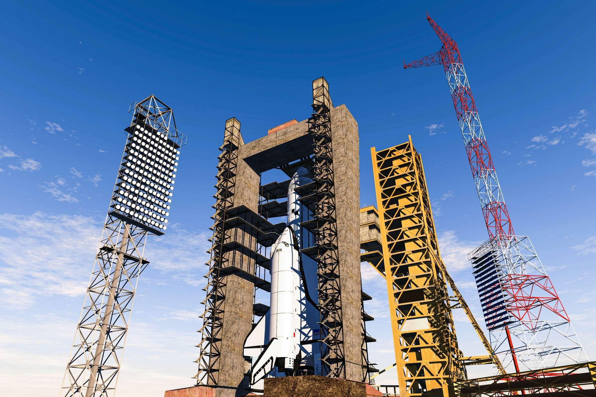 Der Weltraumbahnhof Von Baikonur In Der Steppe Kasachstans Ist Der Grosste Raketenstartplatz Der Welt Kasachstan Tadschikistan Kirgistan