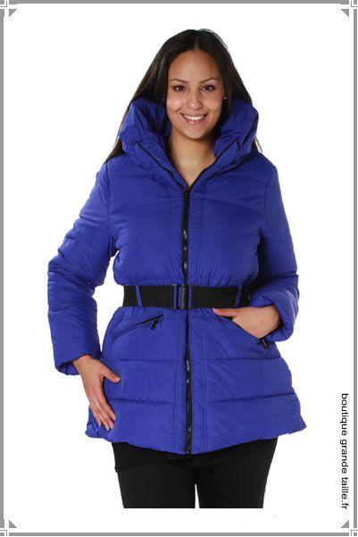 dcc39cddc870 Doudoune bleue électrique grande taille femme, mode à petit prix ...