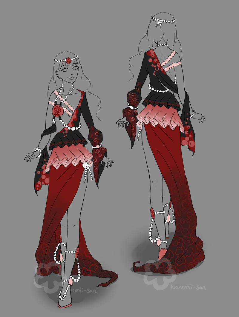 Dress design auction closed by nahemii san deviantart com on deviantart