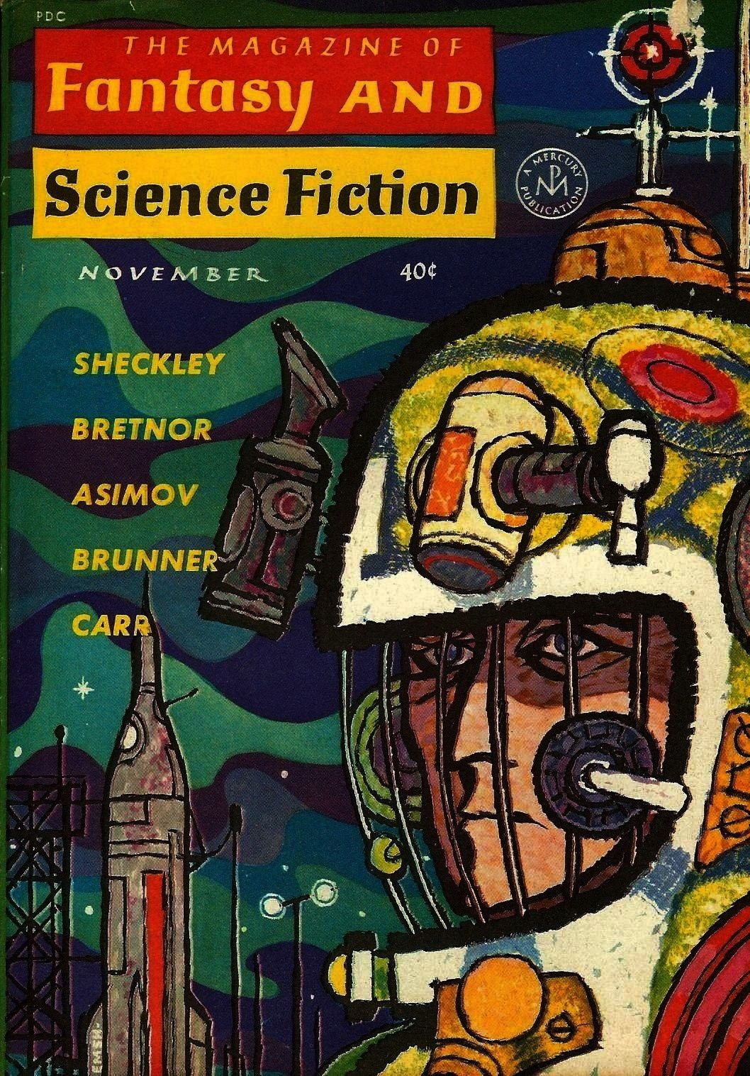 the cover of The Magazine of Fantasy and Science Fiction November 1962 Ed Emshwiller art on the cover of The Magazine of Fantasy and Science Fiction November 1962  Learn...