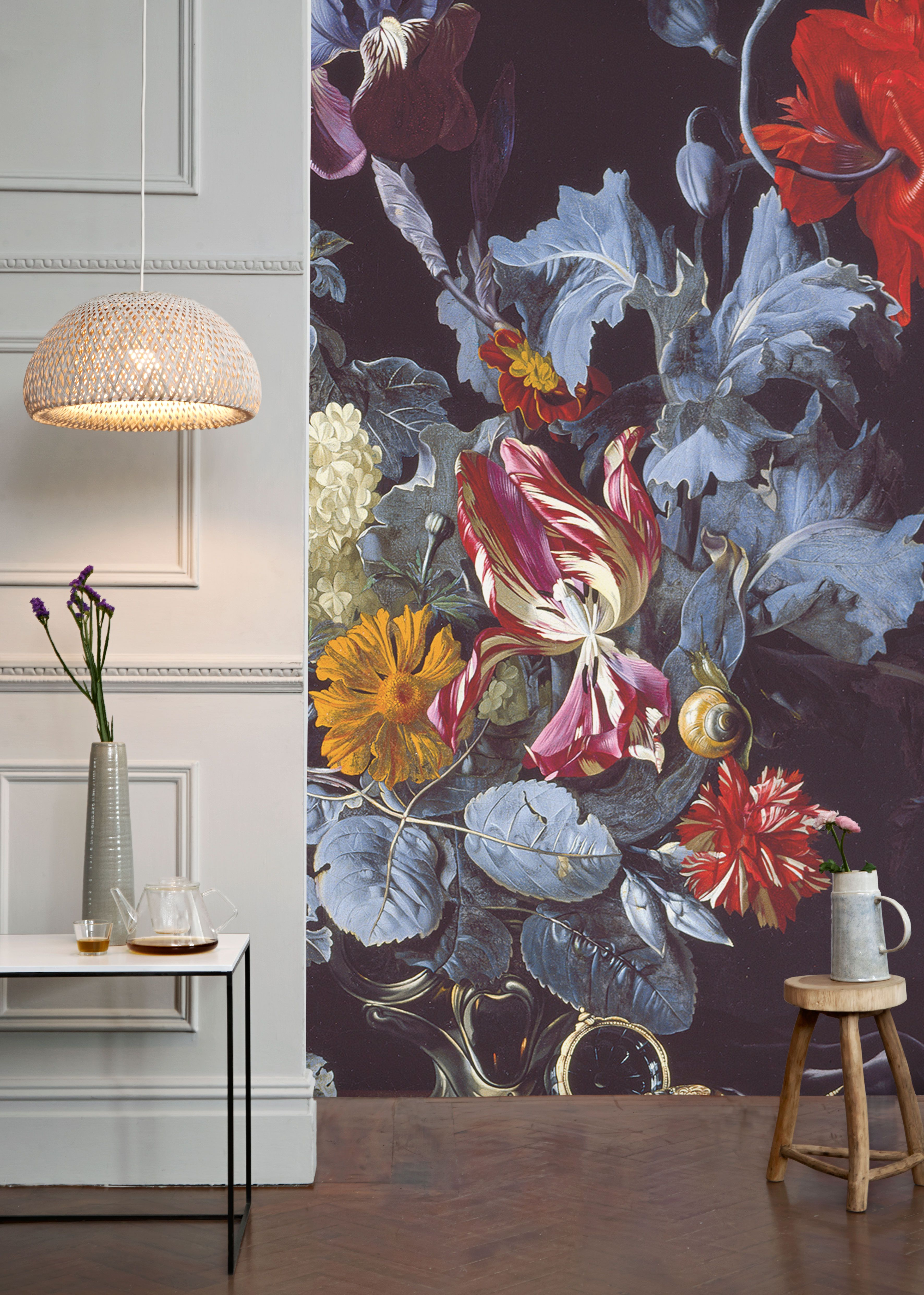 A Vase of Flowers with a Watch Mural by Willem van Aelst | Welcome ...