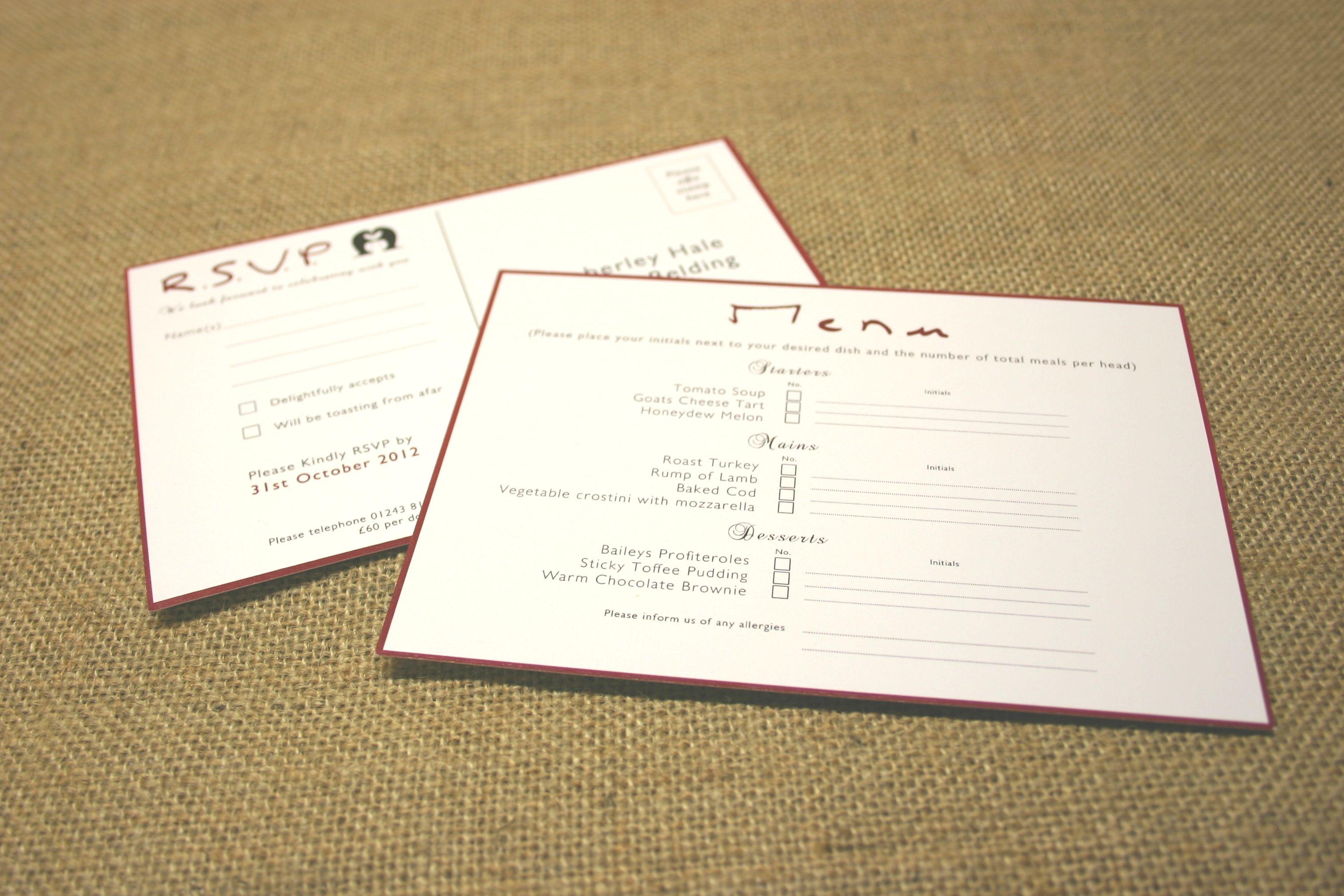 www.theweddingprintshop.co.uk Christmas themed wedding stationery ...