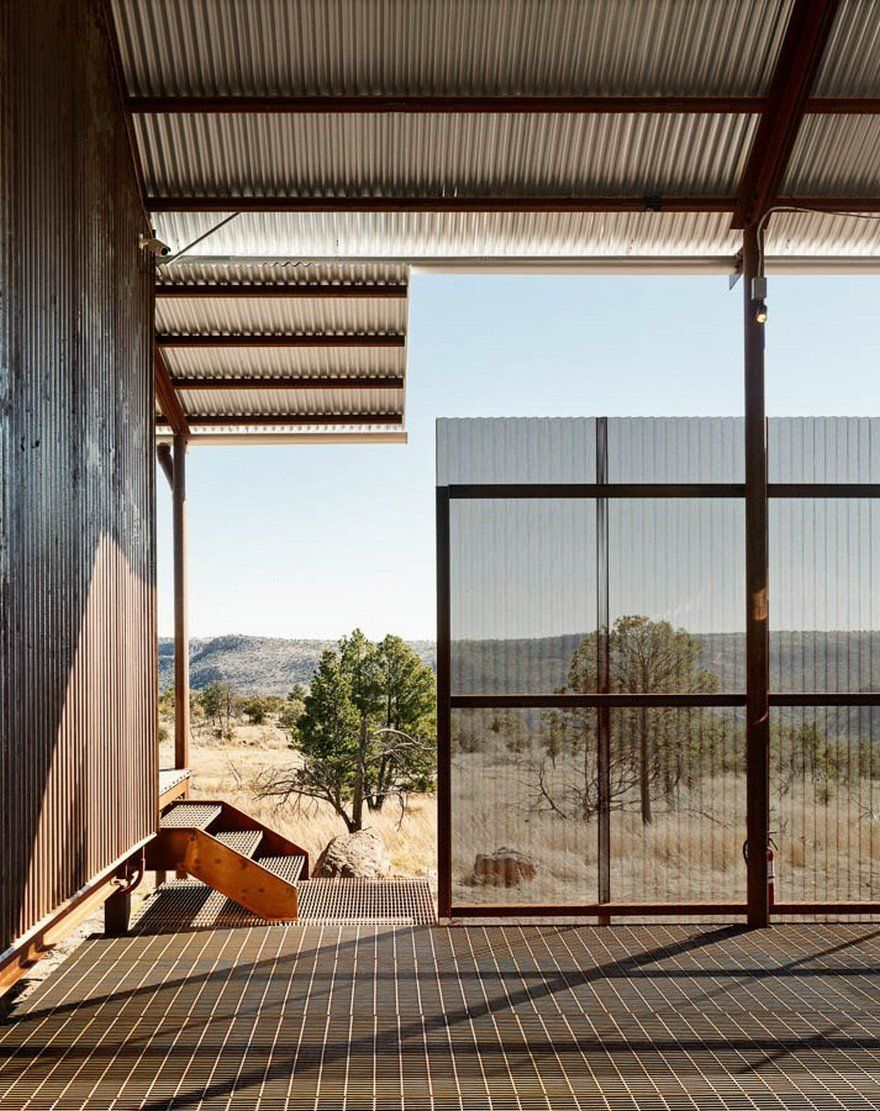 Off The Grid Porch House In West Texas The Prow In 2020 Lake Flato House Residential Design
