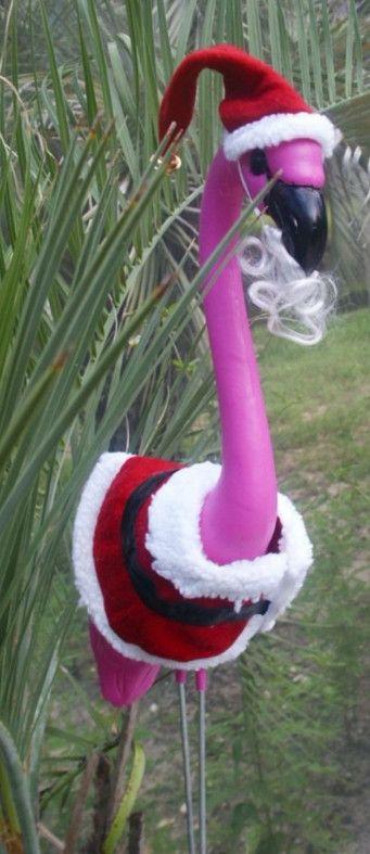 santa flamingo yard ornaments | etc. | Pinterest | Yard ornaments ...
